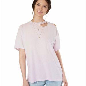 Free People Lucky Oversized T-Shirt Purple Small